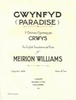 Meirion Williams - Gwynfyd copy